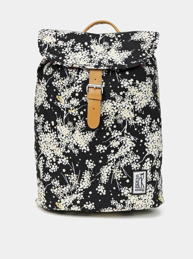 Čierny dámsky vzorovaný batoh The Pack Society
