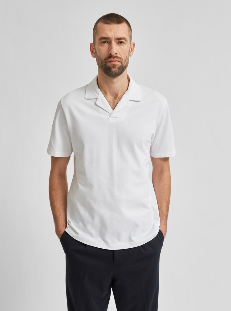 Bílé polo tričko Selected Homme Regatlas