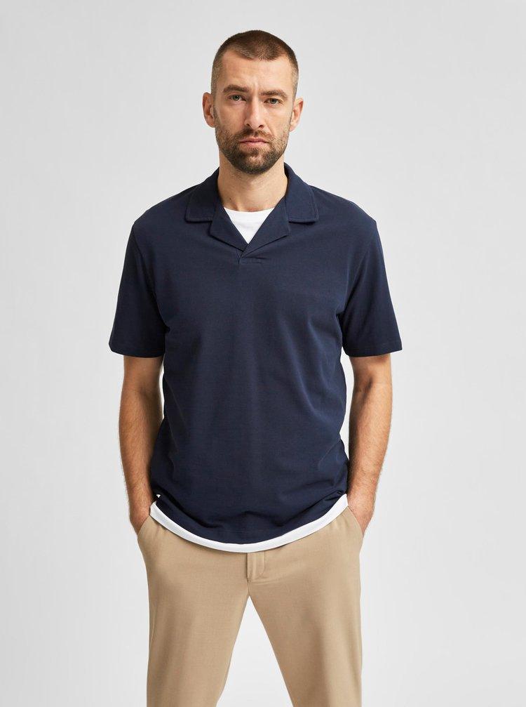 Tmavě modré polo tričko Selected Homme Regatlas