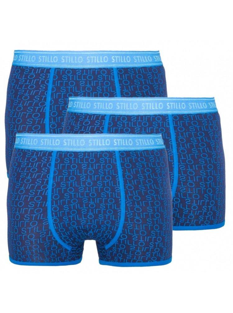 3PACK pánské boxerky Stillo modré