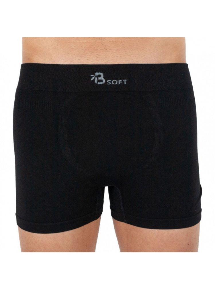 Pánské boxerky Gino bambusové bezešvé černé