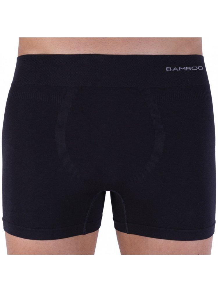 Pánské boxerky Gino bezešvé bambusové černé