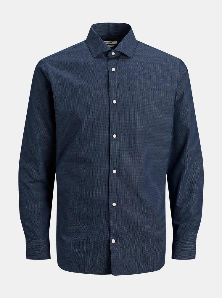 Tmavomodrá vzorovaná košeľa Jack & Jones Royal