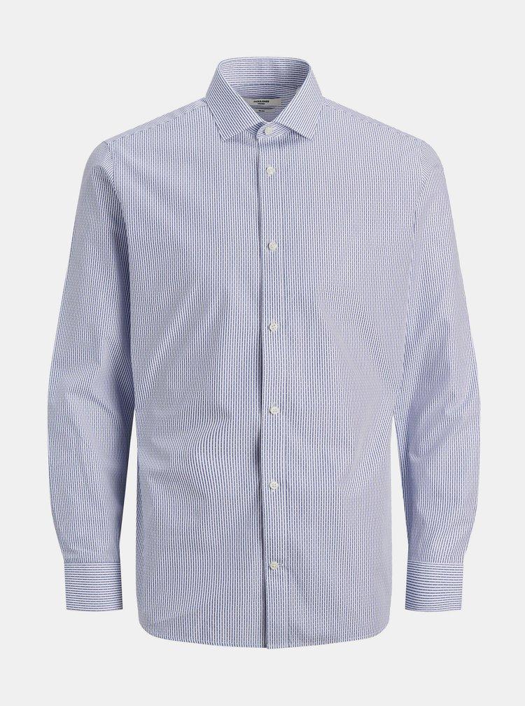 Modro-bílá vzorovaná košile Jack & Jones Royal