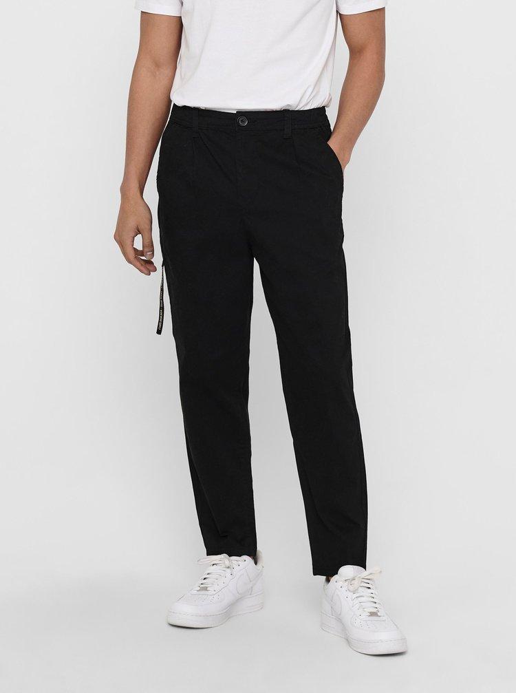 Černé kalhoty s kapsami ONLY & SONS Dew