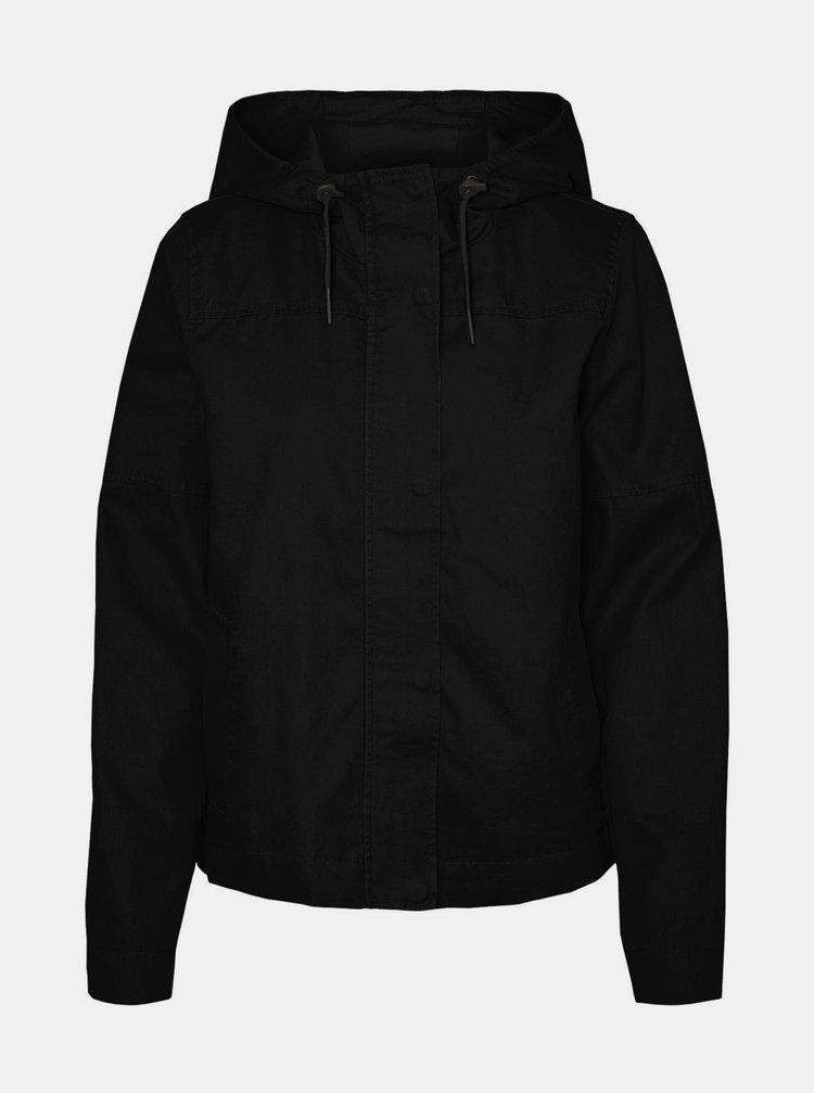 Černá lehká bunda s kapucí Noisy May Dawson