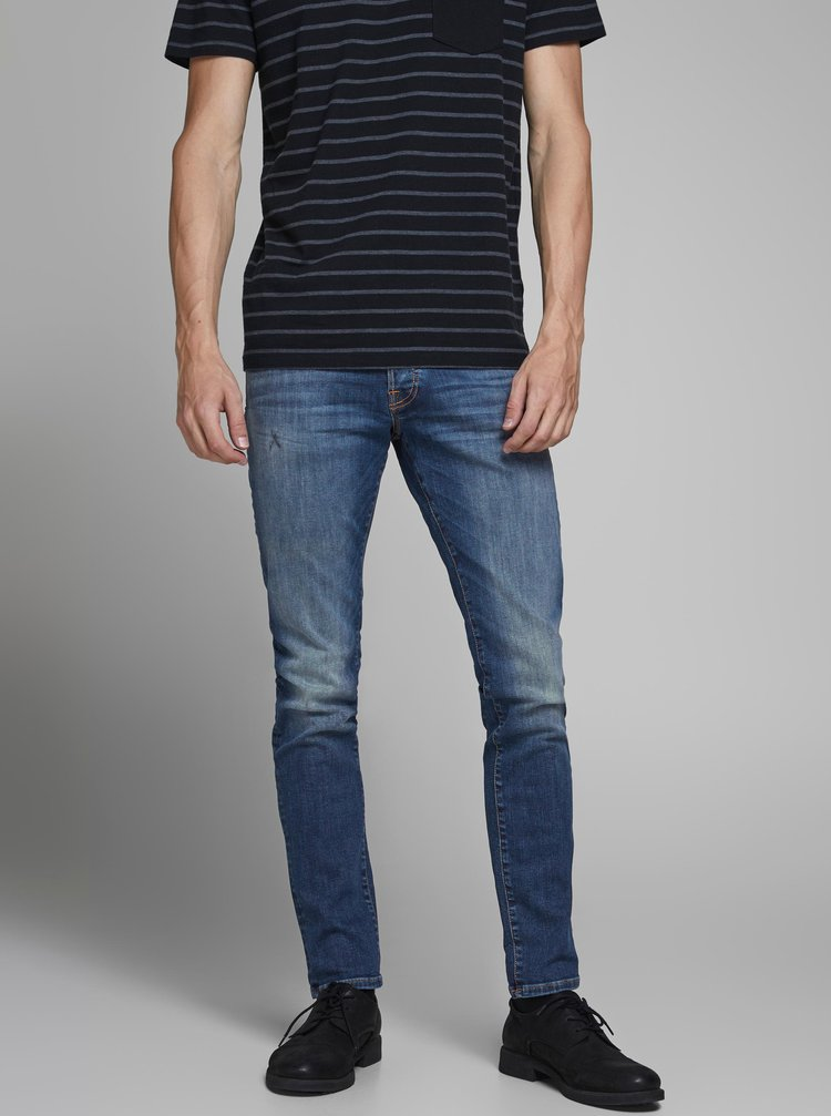 Modré slim fit rifle Jack & Jones Glenn