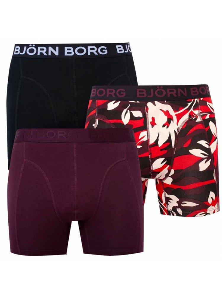 3PACK pánské boxerky Bjorn Borg vícebarevné
