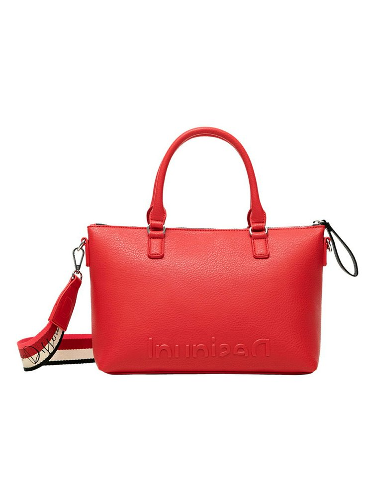 Desigual červené kabelka Bols Embossed Half Logo Padua