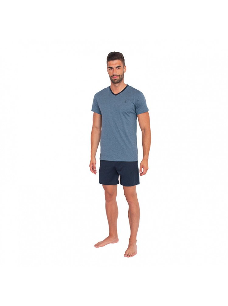 Pánské pyžamo Jockey modré nadrozměr