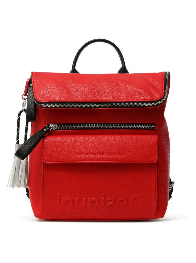 Desigual červený batoh Back Embossed Half Logo Nerano