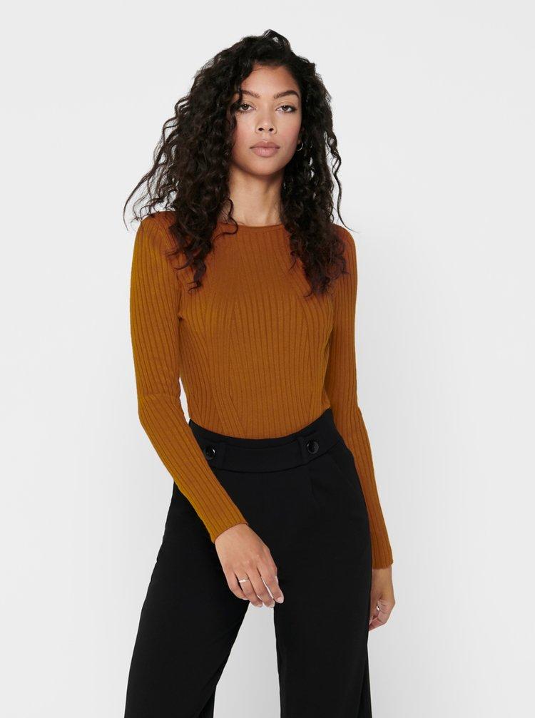 Hnědý svetr ONLY Natalia
