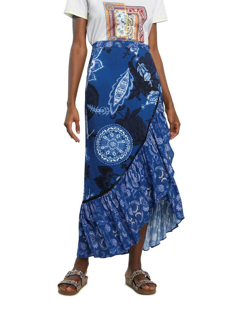 Desigual modrá sukně Fal Nerea