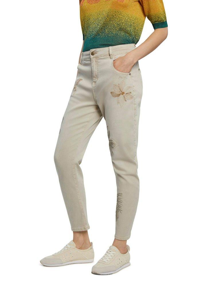 Desigual smotanové/krémové nohavice Pant Kim