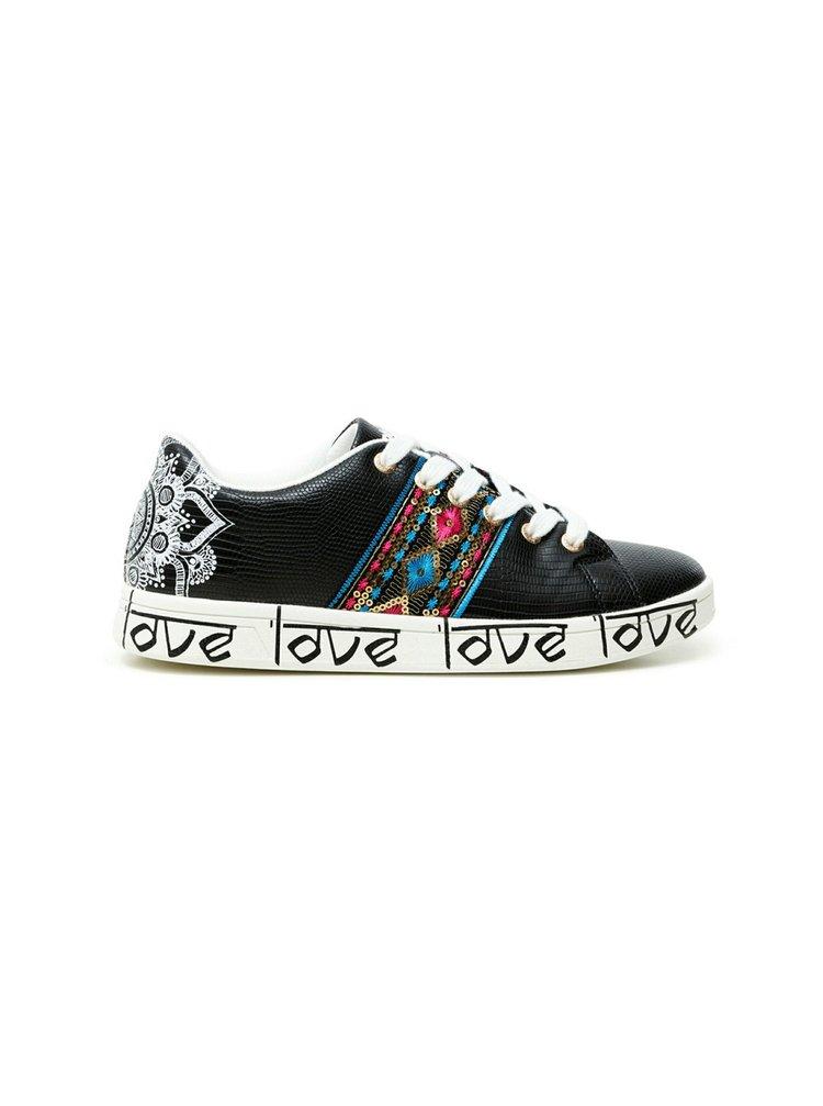 Desigual čierne tenisky Shoes Cosmic Exotic Indian
