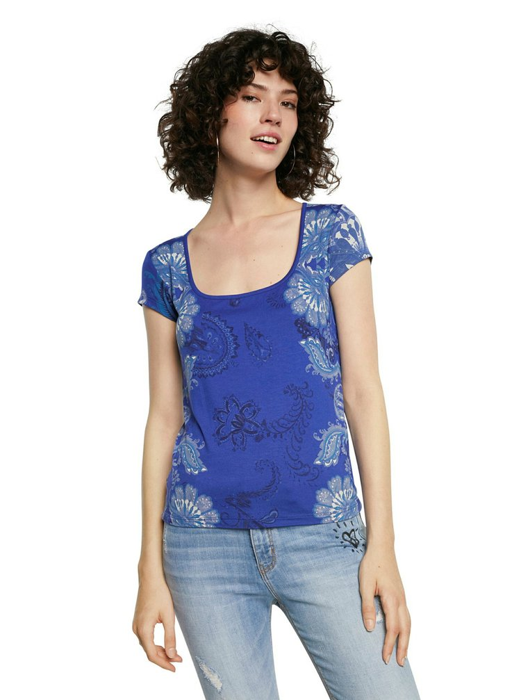Desigual modré tričko TS Brasilia