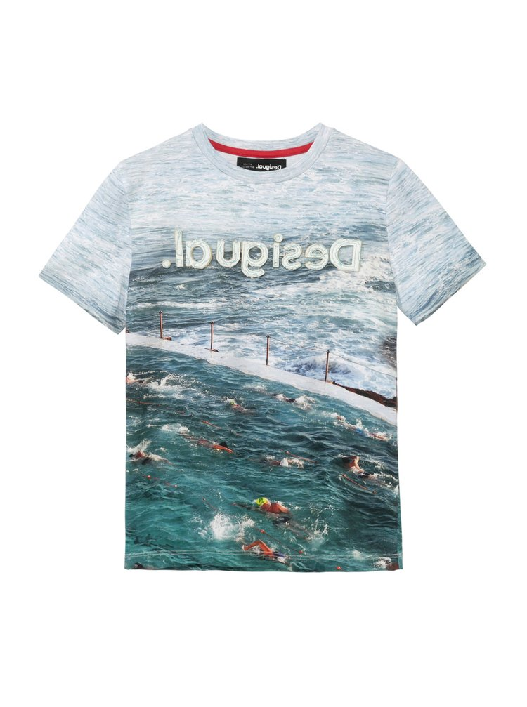 Desigual modré chlapecké tričko TS Julio