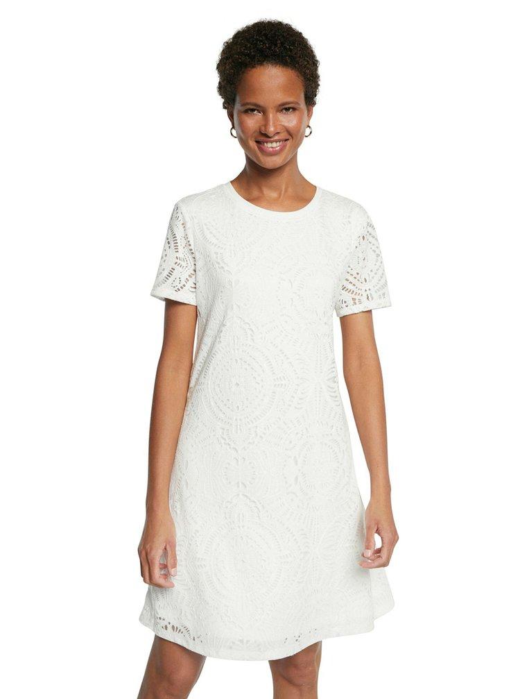 Desigual bílé šaty Vest Nilo