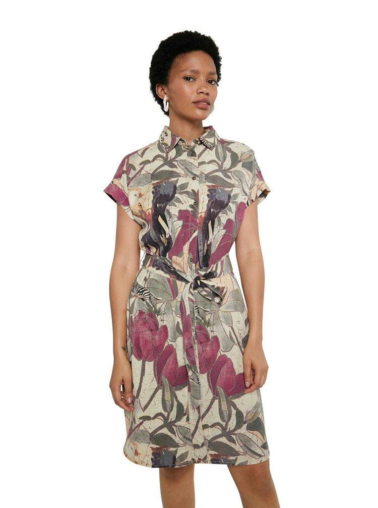 Desigual farebné košeľové šaty Vest Etnican