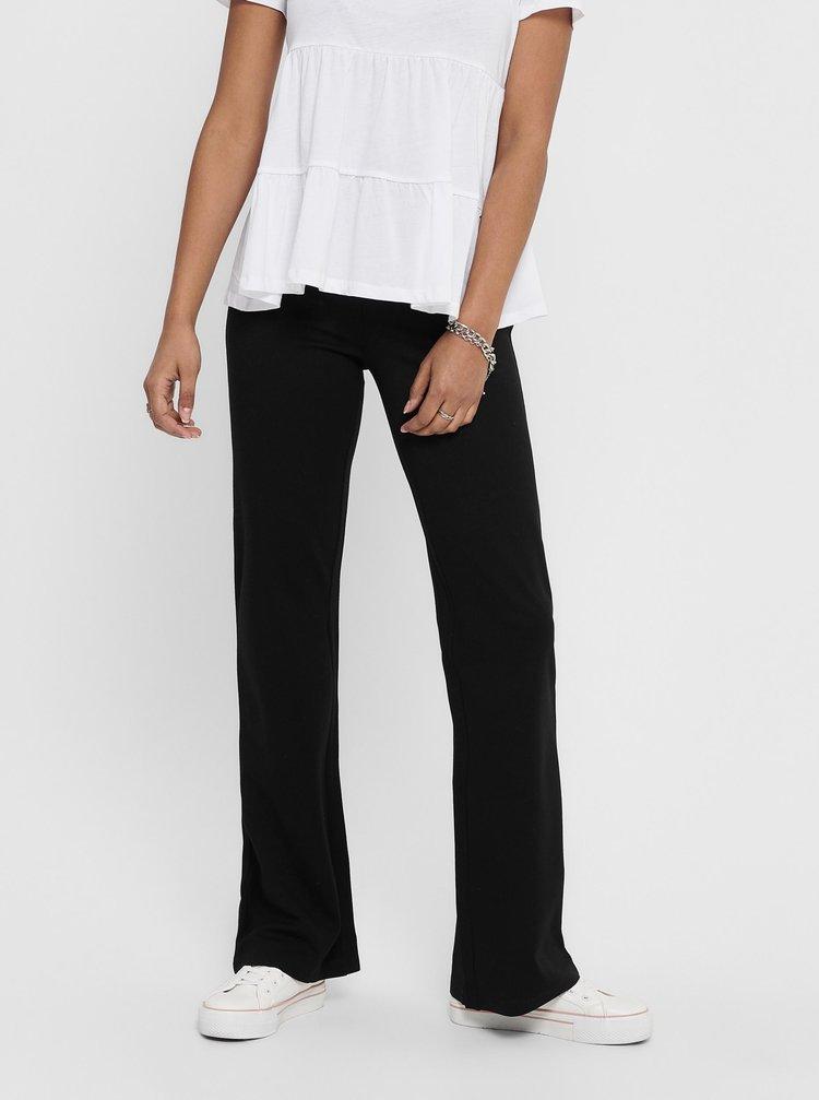 Černé flared fit kalhoty Jacqueline de Yong Pretty