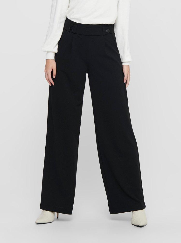 Černé široké kalhoty Jacqueline de Yong Geggo