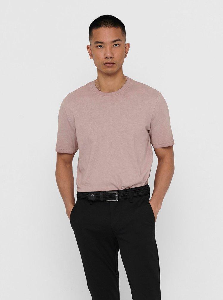 Růžové tričko ONLY & SONS Millenium
