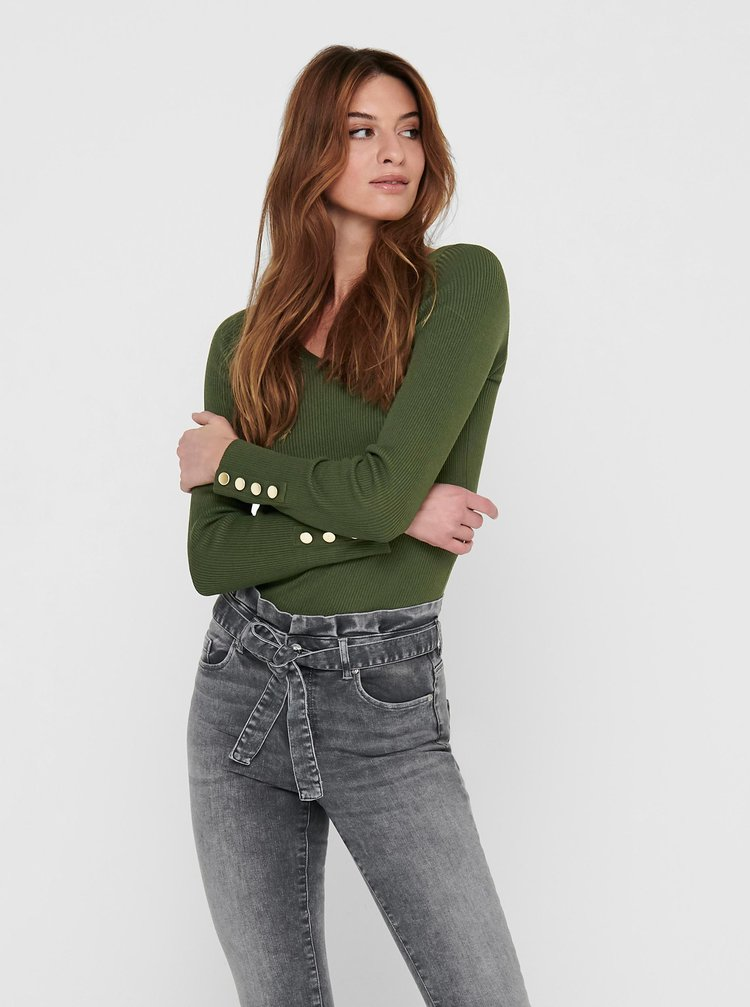 Zelený svetr Jacqueline de Yong Plum