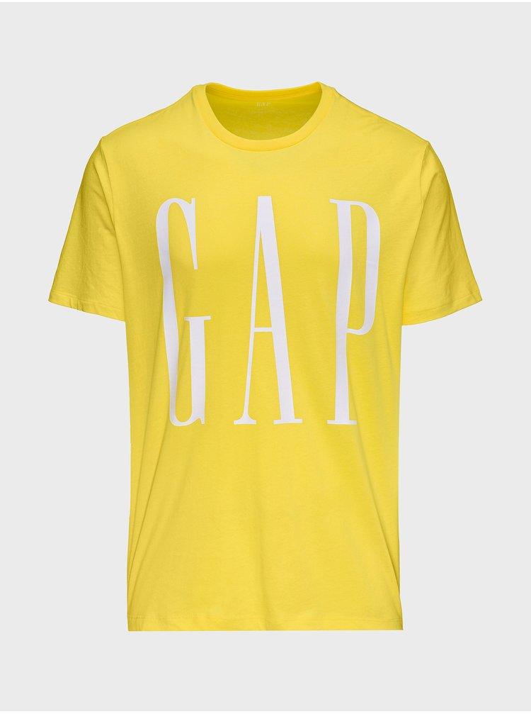 Žluté pánské tričko GAP Logo