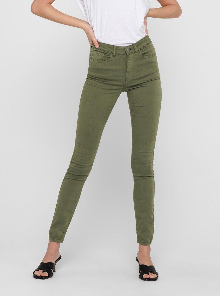 Zelené skinny fit kalhoty Jacqueline de Yong Lara