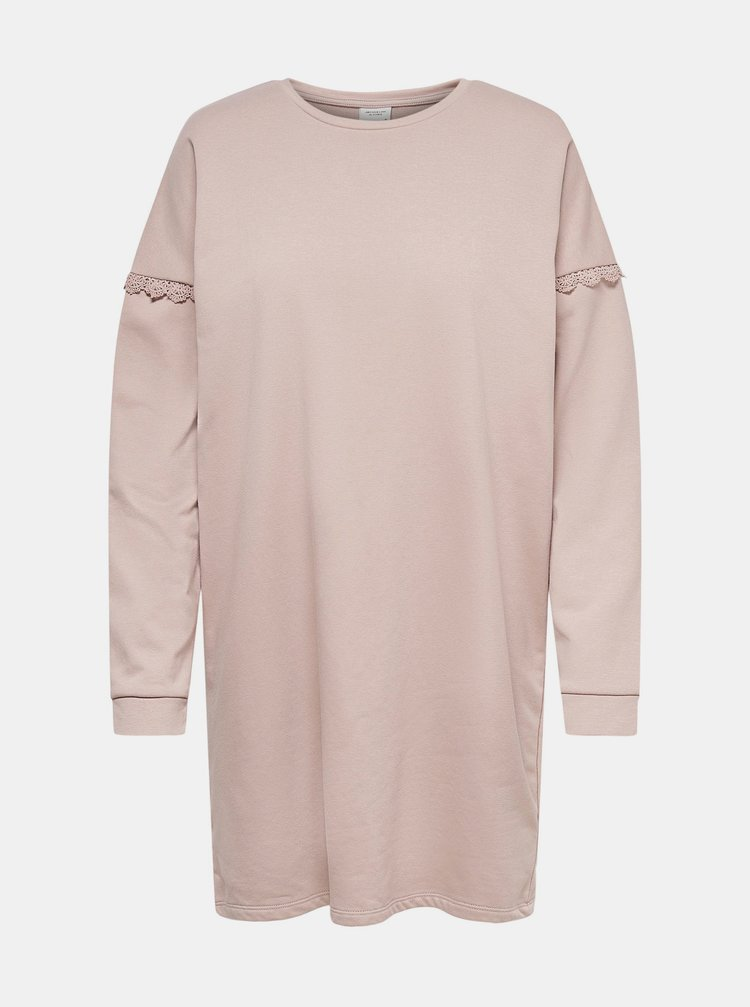 Světle růžové mikinové šaty Jacqueline de Yong Rikke