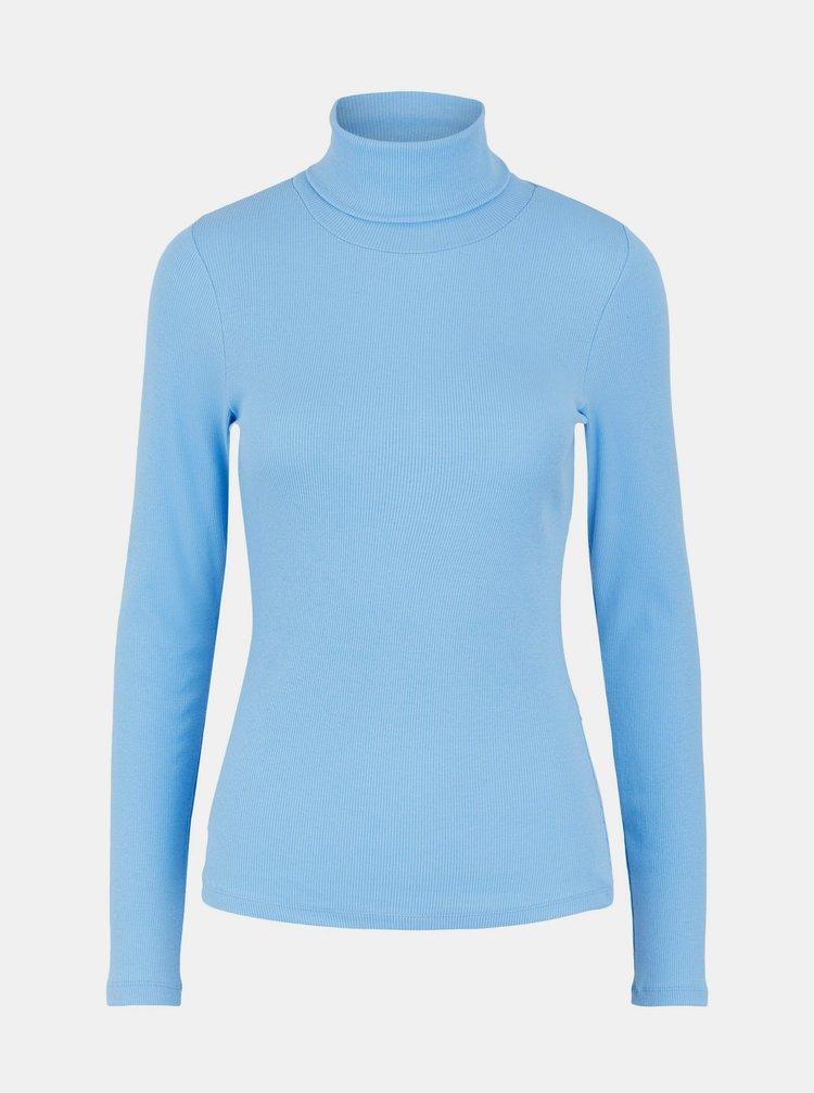 Modré tričko s rolákem Pieces Anna
