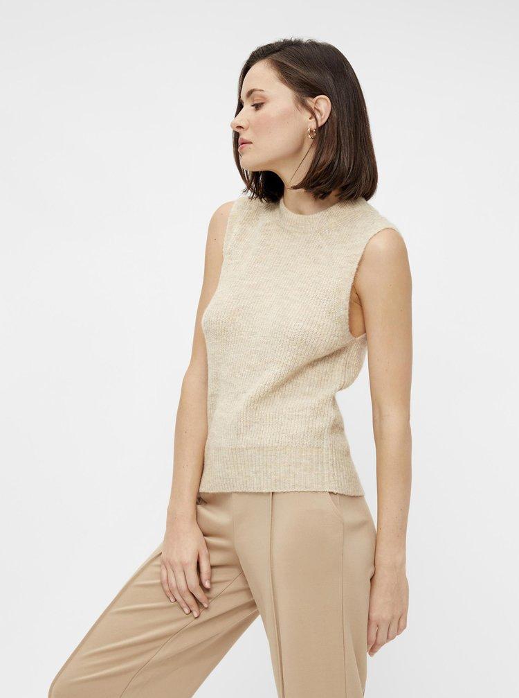 Krémová vesta Pieces Ellen