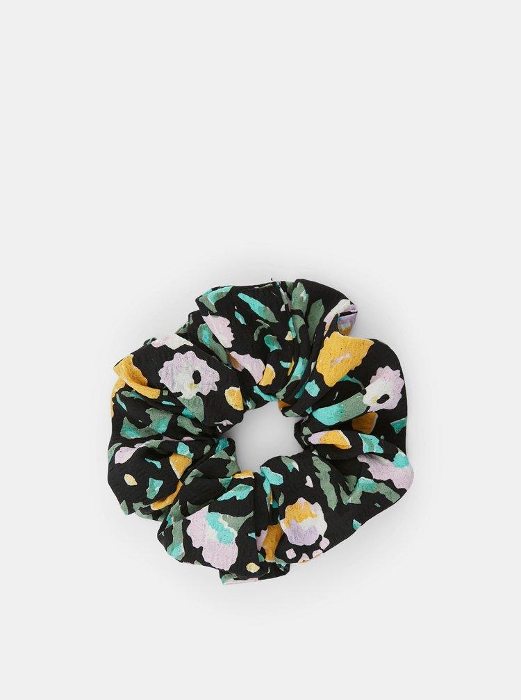 Sada dvou černých vzorovaných gumiček Pieces Julle