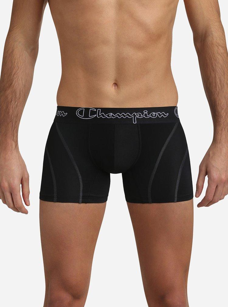 CHAMPION BOXER PERFORMANCE - Sportovní boxerky z mikrovlákna - černá