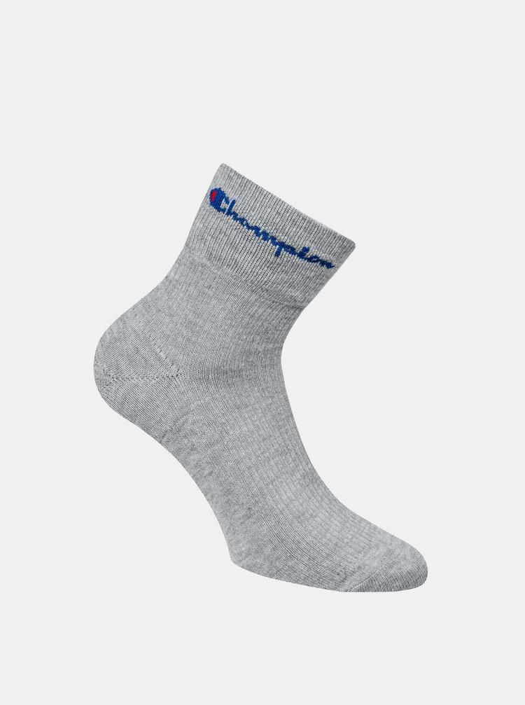 CHAMPION ANCLE ROCHESTER REVERSE SOCKS - Sportovní kotníkové ponožky 1 pár - grey