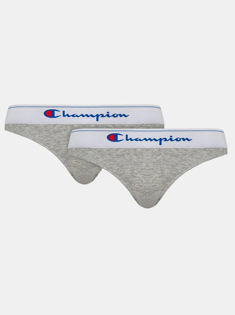 CHAMPION BRIEF CLASSIC 2x - 2 ks bavlněných kalhotek - šedá