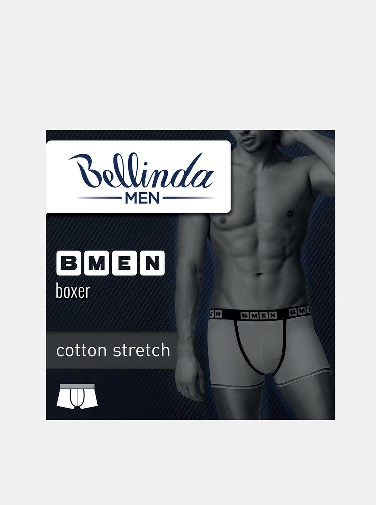 Pánské boxerky BMEN BOXER - Pánské bavlněné boxerky - černá - modrá