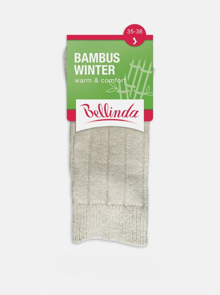 Dámske zimné ponožky BAMBUS WINTER SOCKS - Dámske zimné bambusové ponožky - béžová