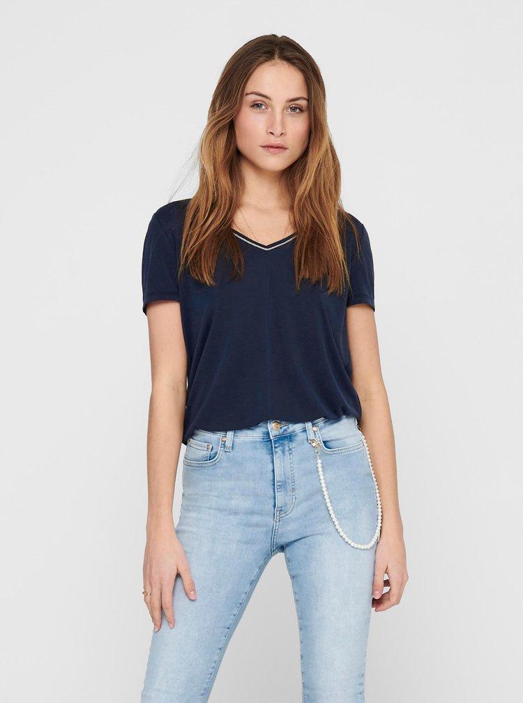 Tmavě modré tričko ONLY