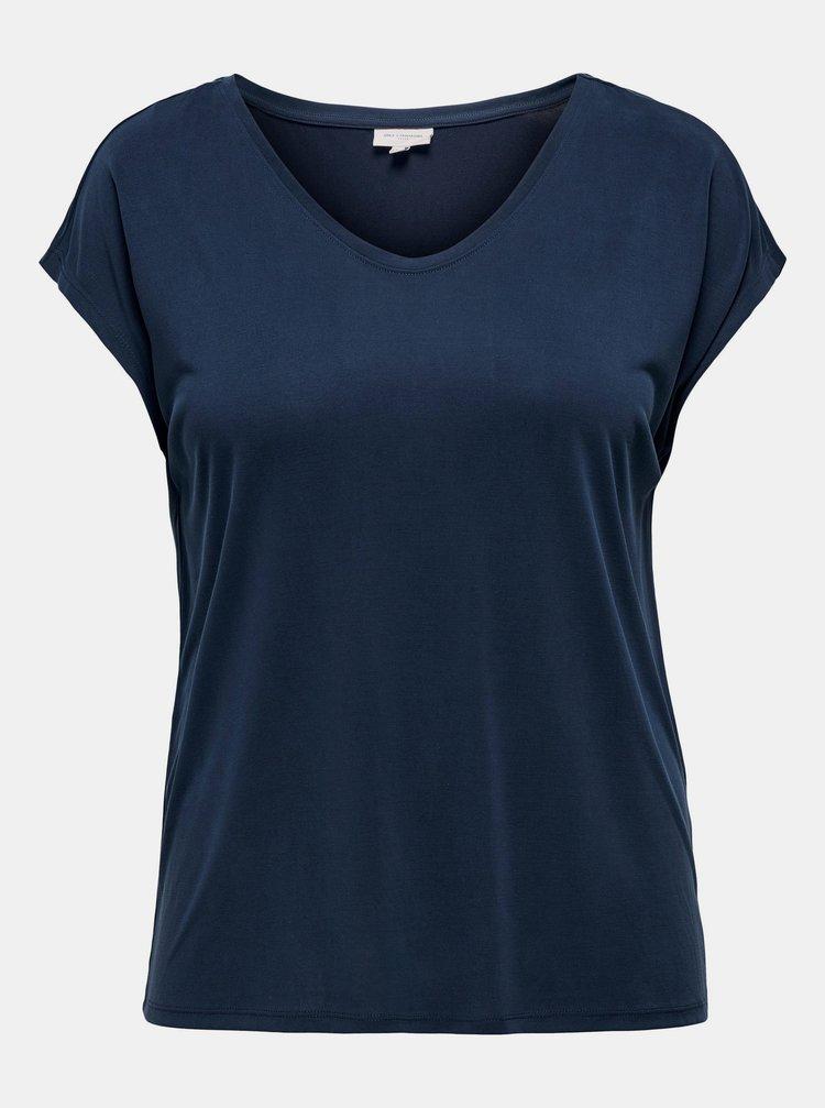 Tmavě modré tričko ONLY CARMAKOMA Nicky