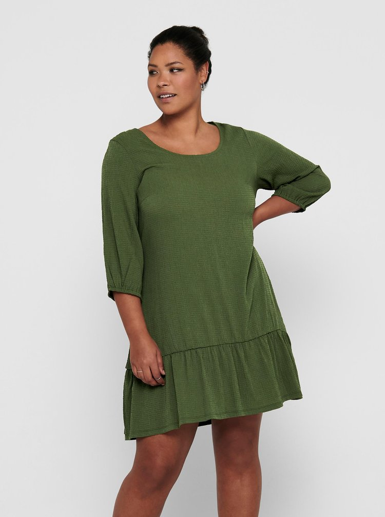 Zelené šaty ONLY CARMAKOMA Paula