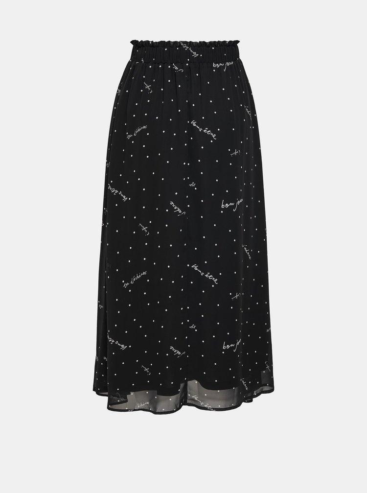 Černá vzorovaná midi sukně ONLY Tracy