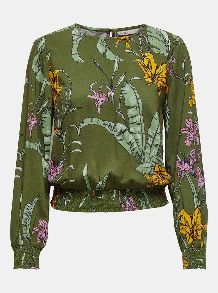 Zelená květovaná halenka ONLY Palm
