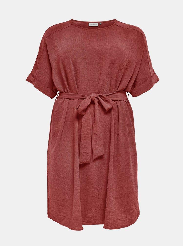 Červené šaty so zaväzovaním ONLY CARMAKOMA Jackie