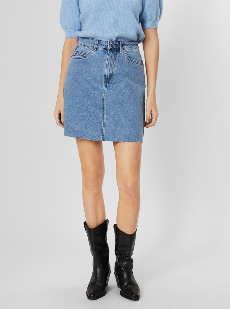 Modrá džínová sukně VERO MODA Mikky