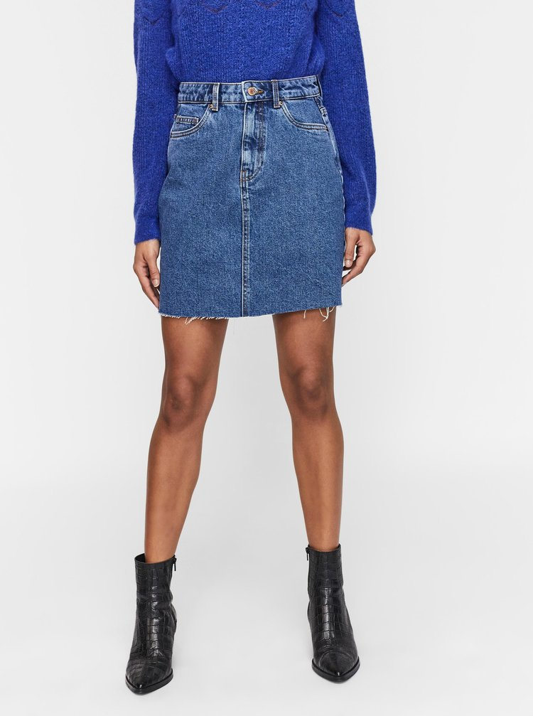 Tmavě modrá džínová sukně VERO MODA Mikky