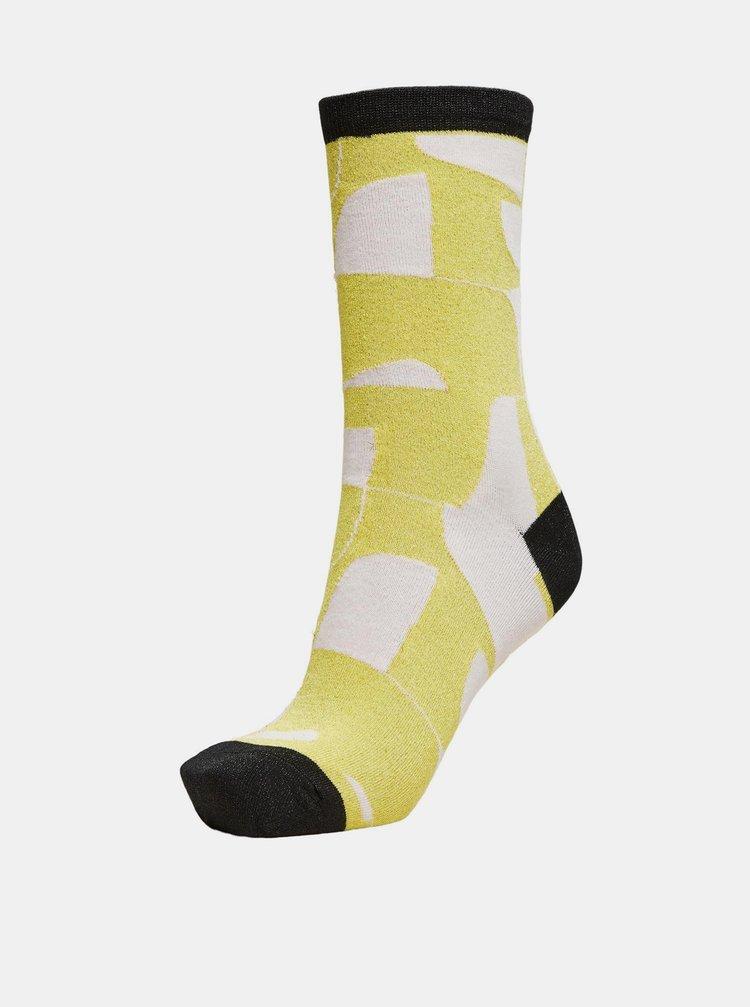 Žluté vzorované ponožky Selected Femme Vida