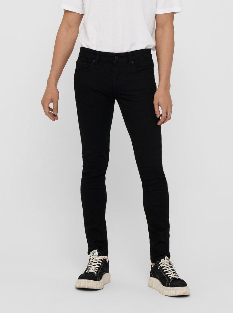 Černé skinny fit džíny ONLY & SONS Swarp