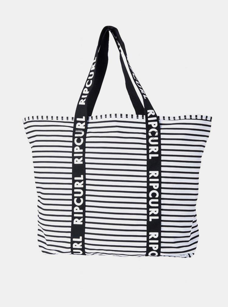 Rip Curl STANDARD TOTE white/black plážová taška - černá
