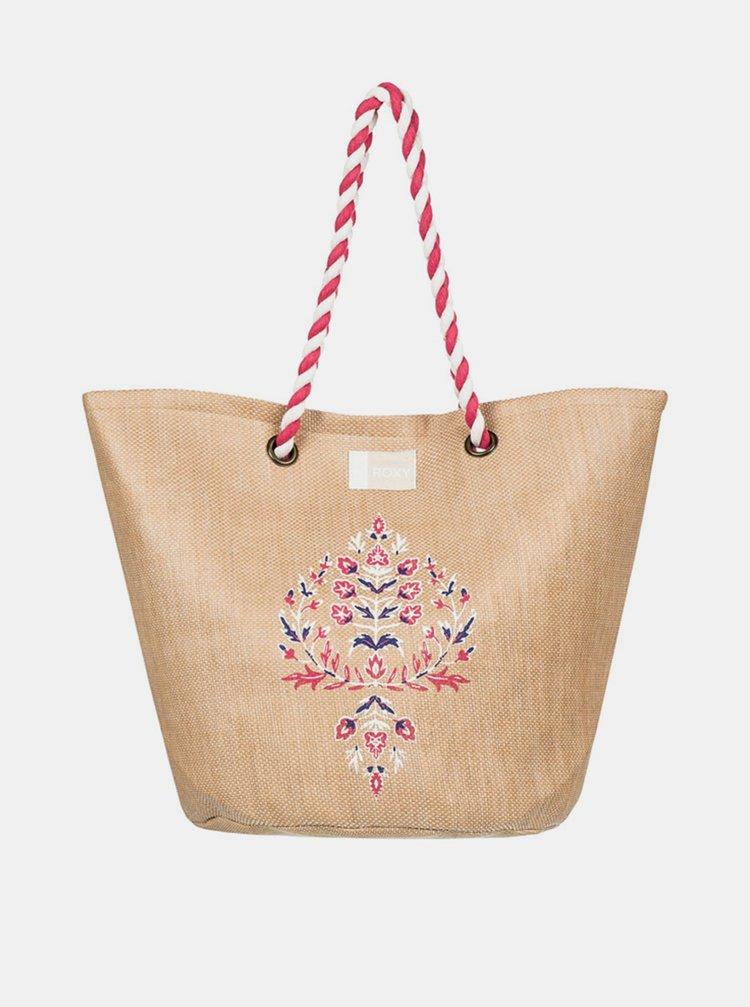 Roxy SUNSEEKER NATURAL plážová taška - béžová